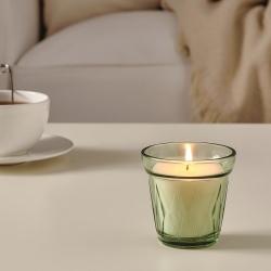 VÄLDOFT - Lilin beraroma dalam gelas, Morning dew/hijau muda