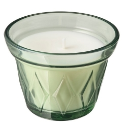 VÄLDOFT - Scented candle in glass, Morning dew/light green