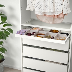 KOMPLEMENT - Pull-out tray with divider, white/light grey