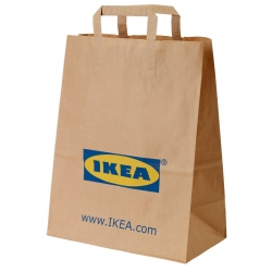 FRAKTA - Paper bag with handles, brown