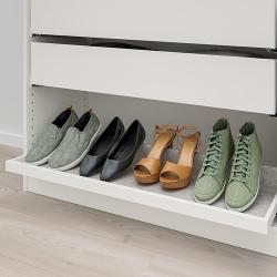 KOMPLEMENT - Baki tarik dg sisipan sepatu, putih/abu-abu muda