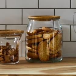 IKEA 365+ - Jar with lid, glass/bamboo