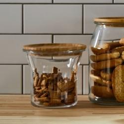 IKEA 365+ - Stoples dengan penutup, kaca/bambu