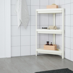 VESKEN - Corner shelf unit, white