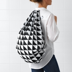 SNAJDA - Laundry bag, black/white