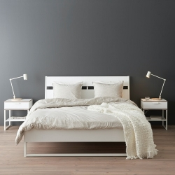 TRYSIL - Rangka tempat tidur, putih/Luröy