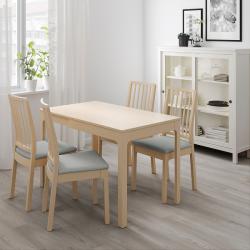 EKEDALEN - Meja yang dapat dipanjangkan, kayu birch