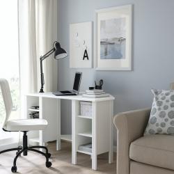 BRUSALI - Meja sudut, putih