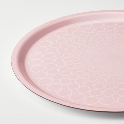 KEJSERLIG - Tray, patterned/pink