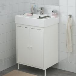 LILLÅNGEN/DYNAN - Kabinet wastafel 2 pintu, putih/Keran Ensen