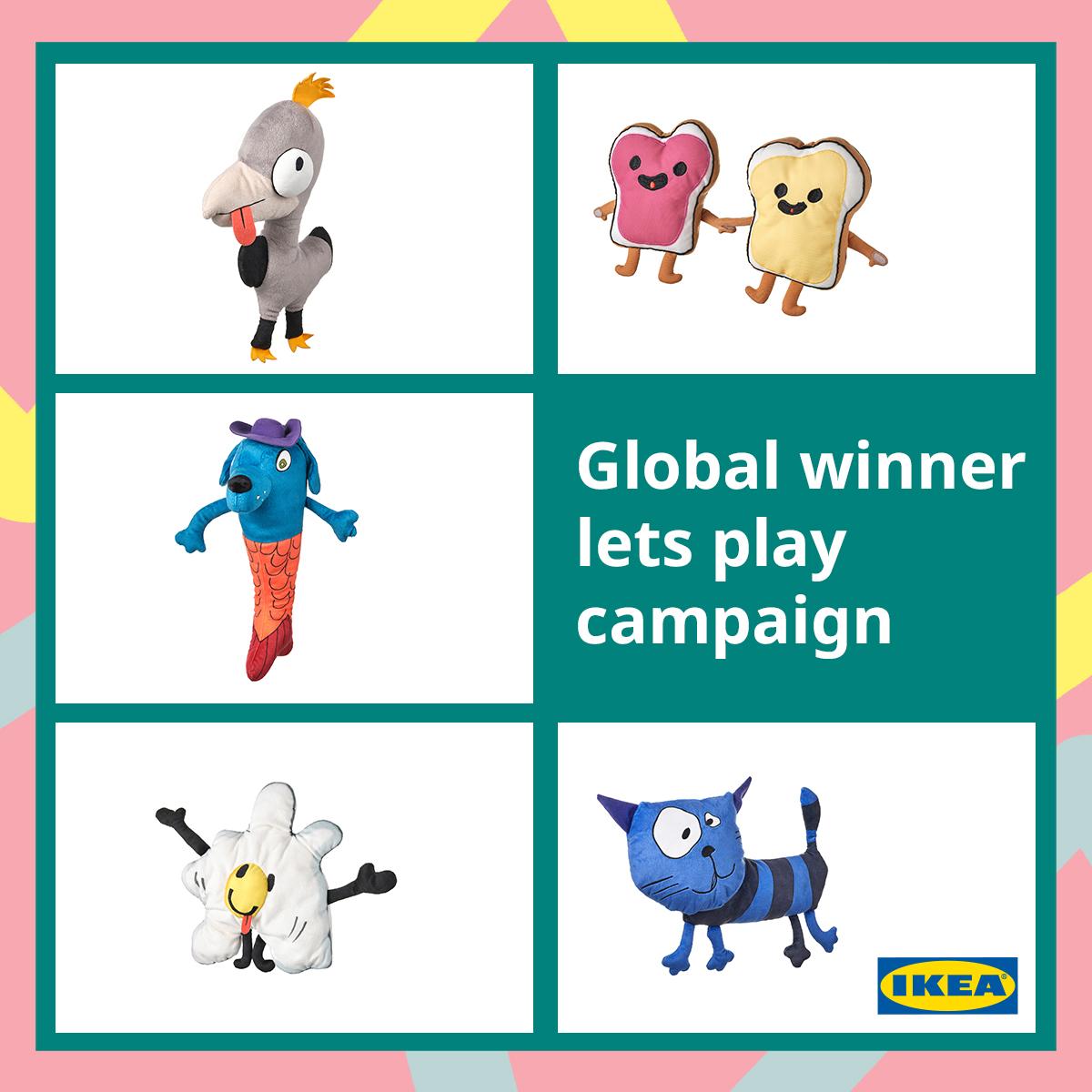 Lima gambar buatan anak-anak  yang dipilih dari lebih 66.000 kiriman ke kompetisi Soft Toy Drawing akan diubah menjadi koleksi SAGOSKATT edisi terbatas 2021