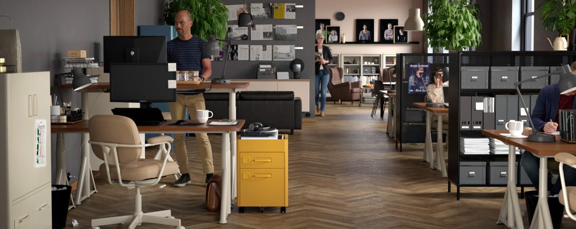 ruang bersama untuk kebutuhan berbeda - rak kantor minimalis - IKEA Indonesia
