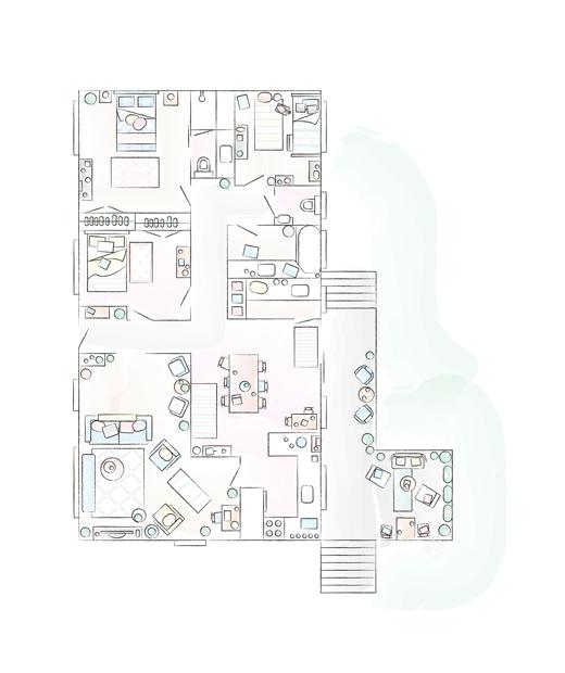 A floorplan of Abeer's home.