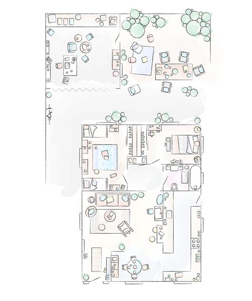A floorplan of Chloé's home.