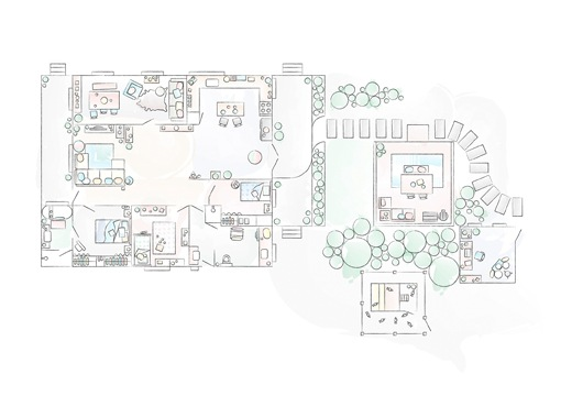 A floorplan of Nici's home.