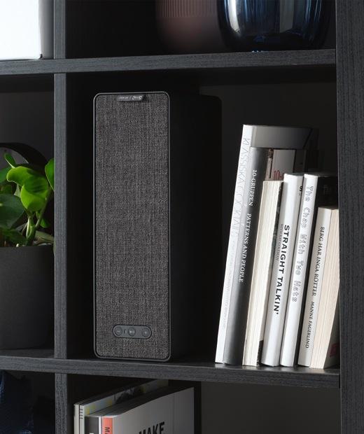 An IKEA SYMFONISK bookshelf speaker, winner of a 2019 Red Dot Award