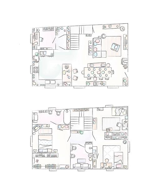 A floorplan of Sarah's home.