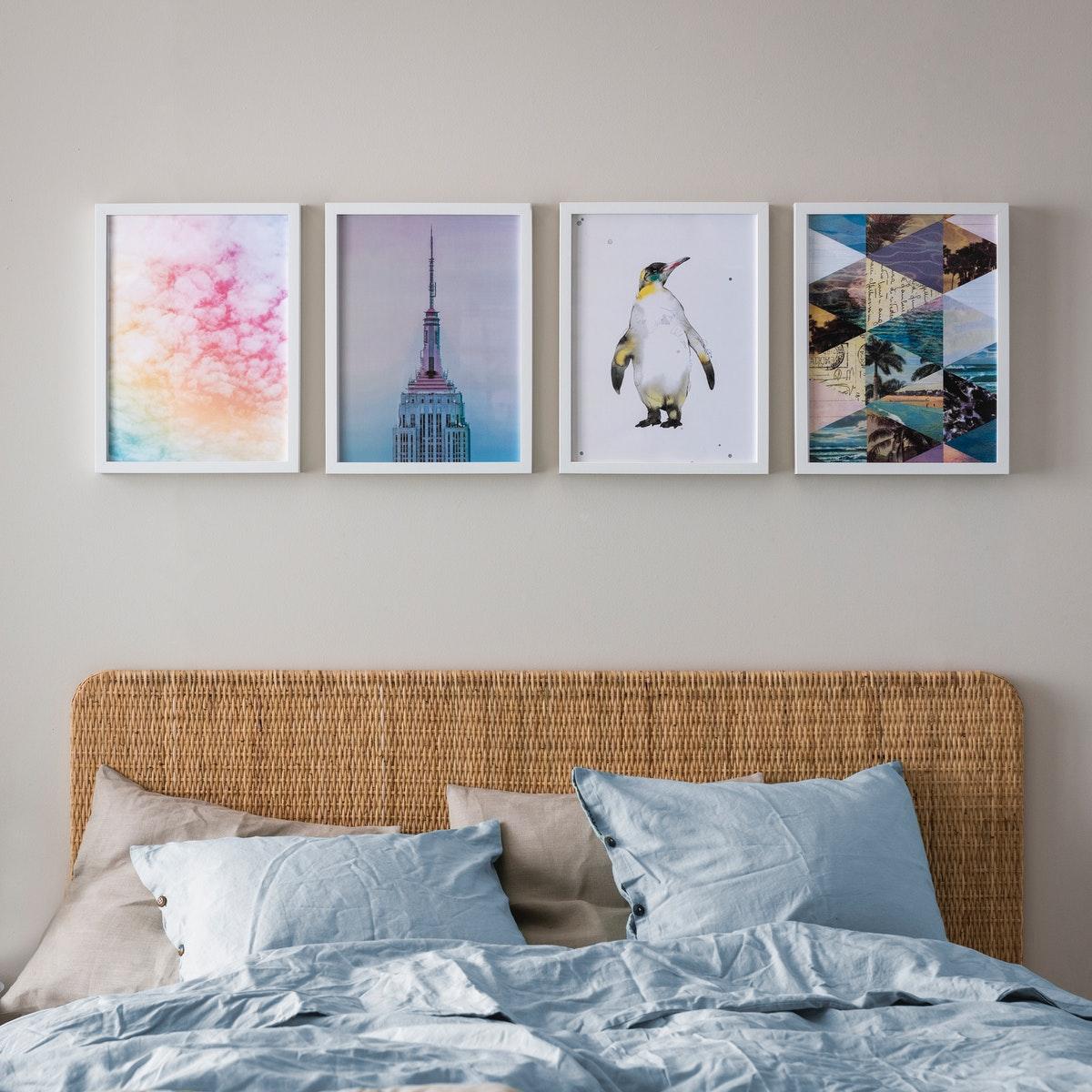 dekorasi dinding kamar yang artistik dan murah