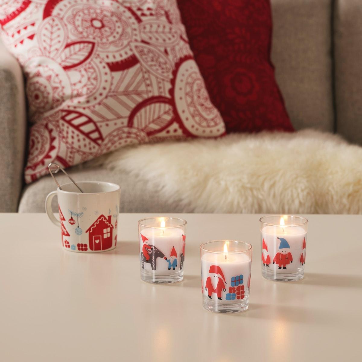 lilin untuk pohon natal