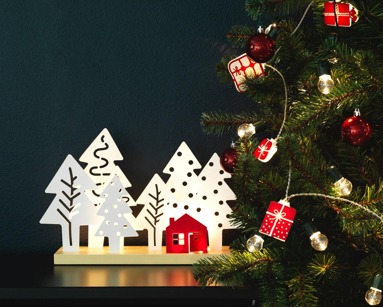 dekorasi lampu natal