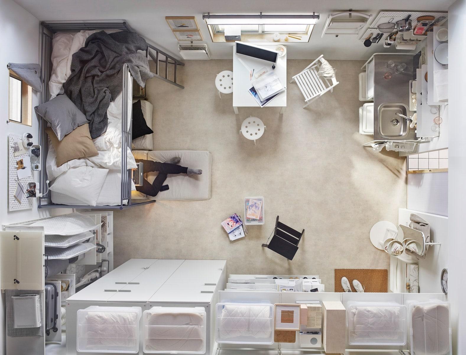 cara menata kamar kos yang sempit