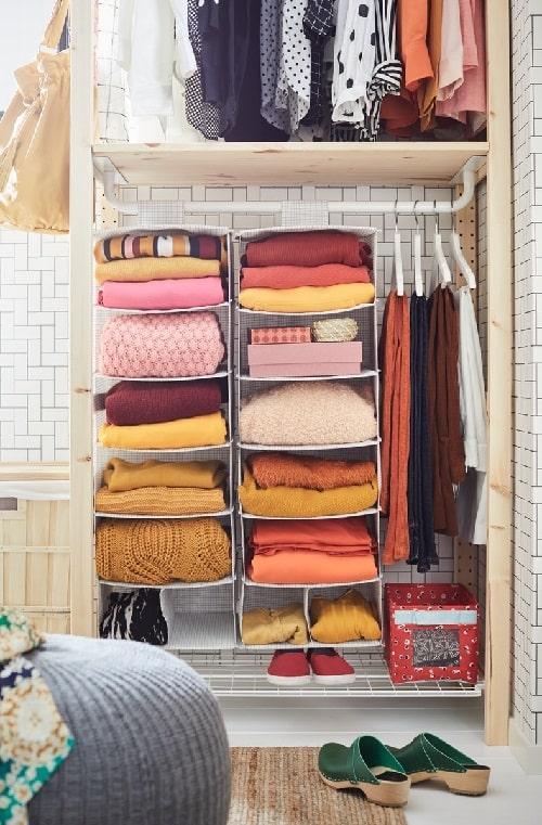 Maksimalkan penggunaan ruang di lemari pakaian