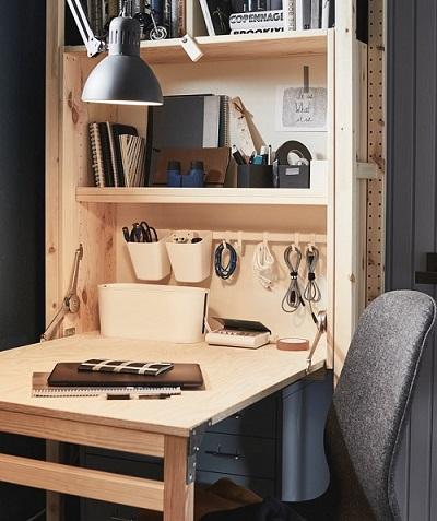Perabot multifungsi juga dapat menghemat penggunaan ruang