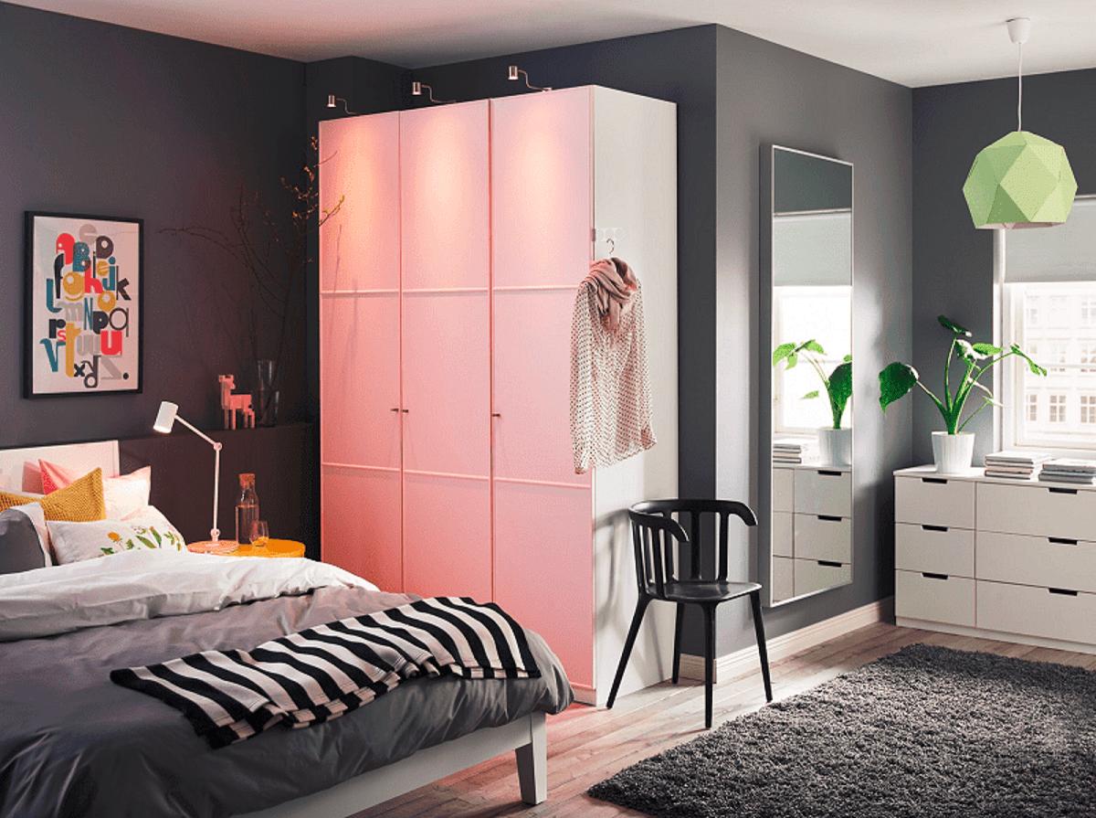 lihat desain lemari pakaian untuk kamar kecil