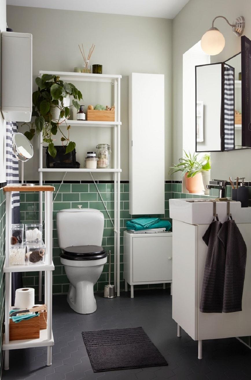 maksimalkan penggunaan ruang di kamar mandi sempit