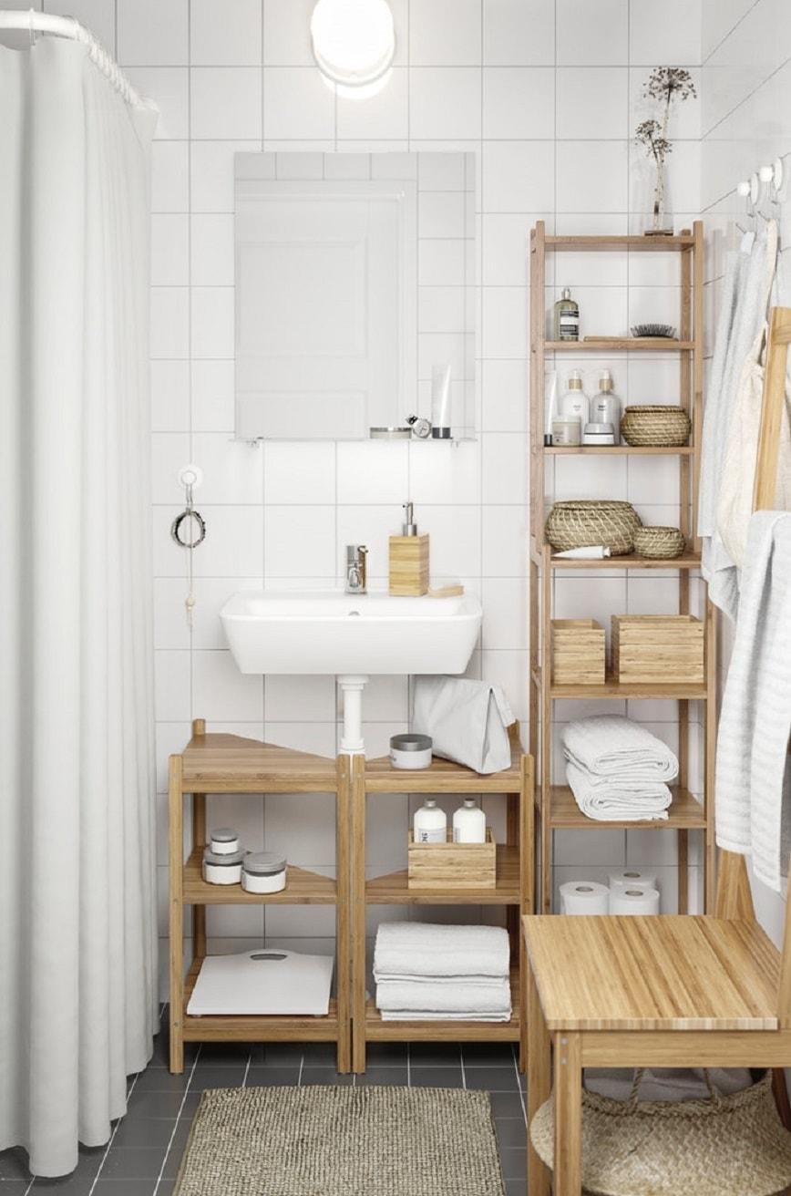 Memaksimalkan penggunaan ruang di kamar mandi kecil