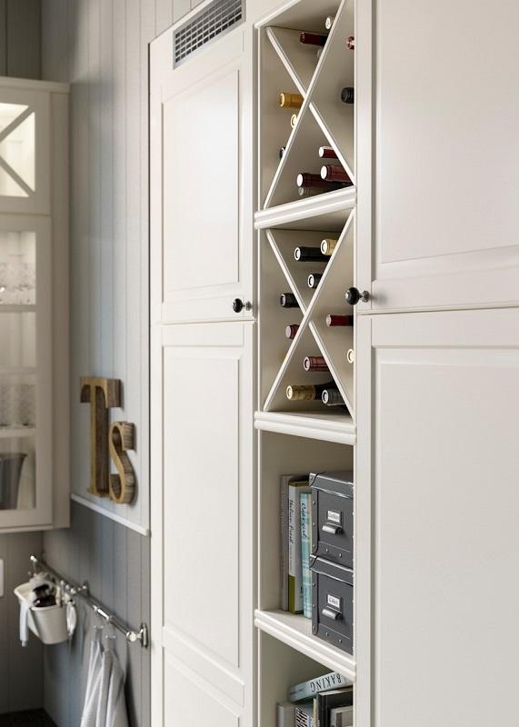 Lemari dapur minimalis warna putih