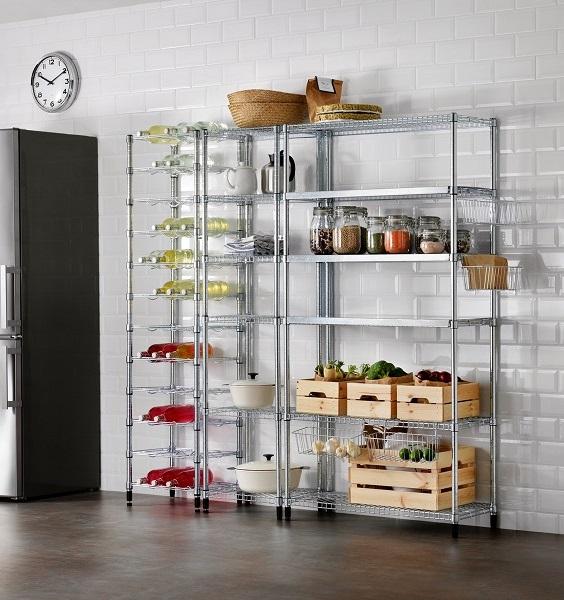 Lemari dapur minimalis stainless steel