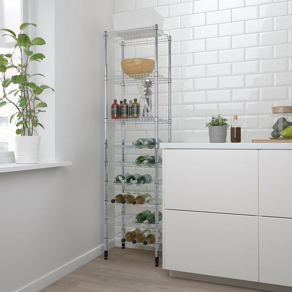 Almari rack dengan design ramping dan tinggi