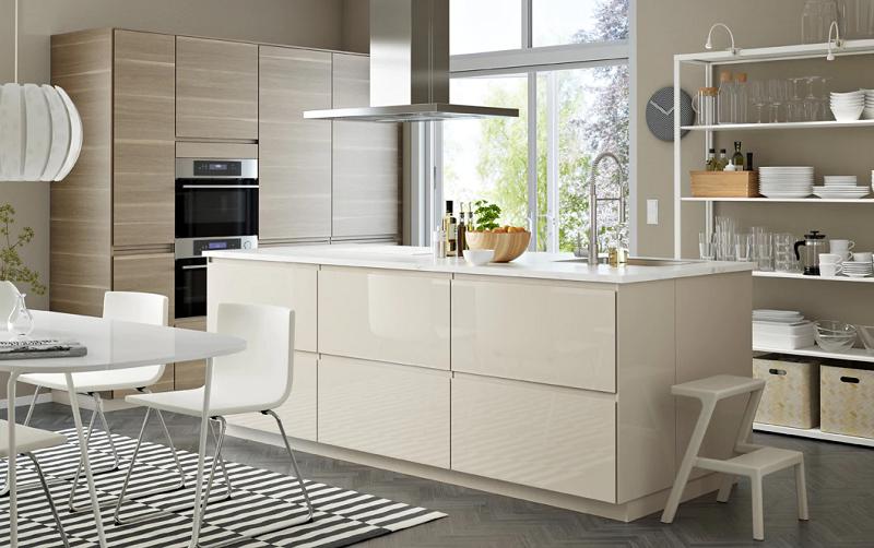 dekorasi dapur modern dengan warna tenang