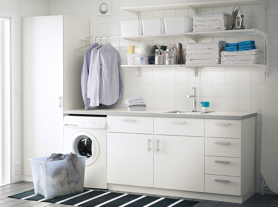 tata ruang tempat cuci terlihat bersih