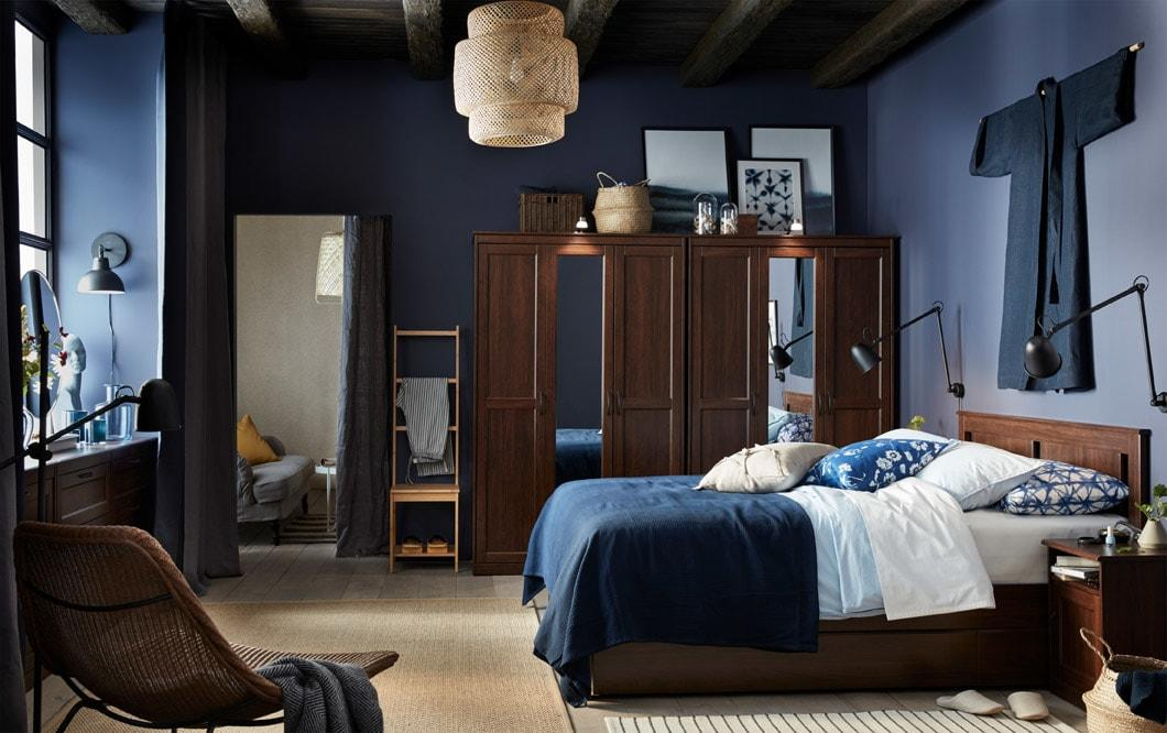 Serene, stylish and full of storage – this bedroom has it all