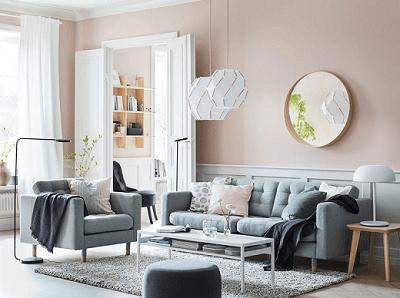 A calm living room oasis