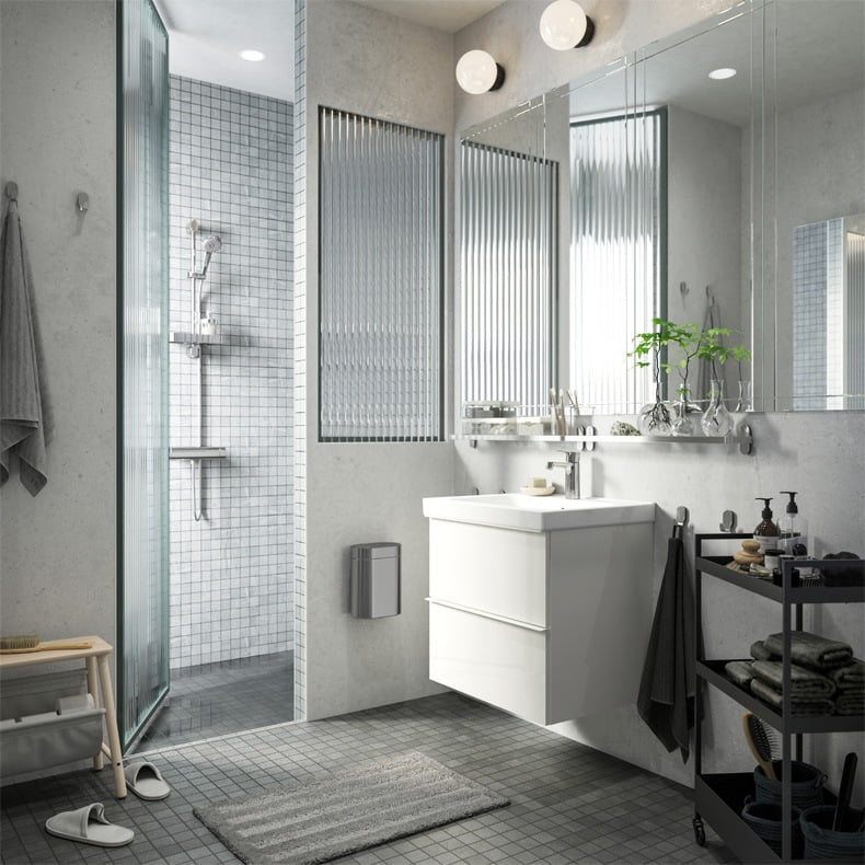Stylish, streamlined, and serene bathroom routines