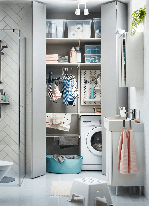 The mini laundry room