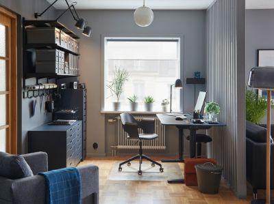 Ruang kerja profesional yang menyatu dengan rumah