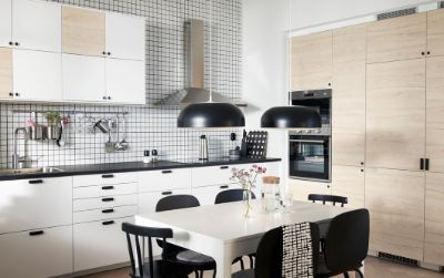 Sebuah dapur yang rapi dan penuh gaya