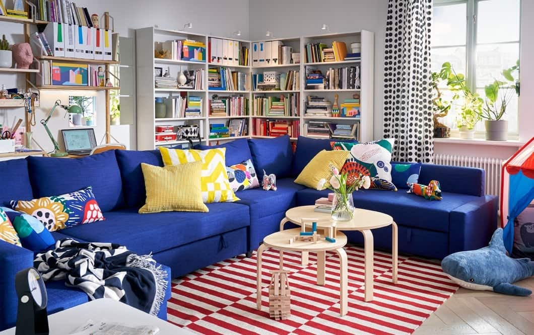 The superhero living room for the big family