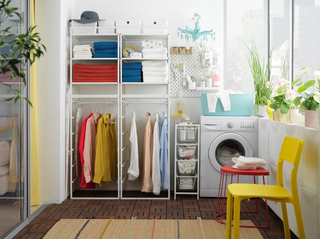 Turn your closed outdoor space into a flexible laundry room