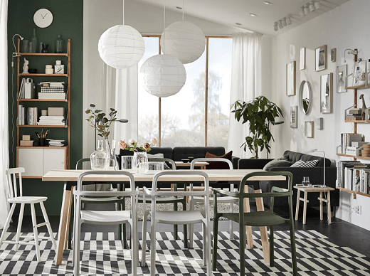 A naturally Scandinavian dining room