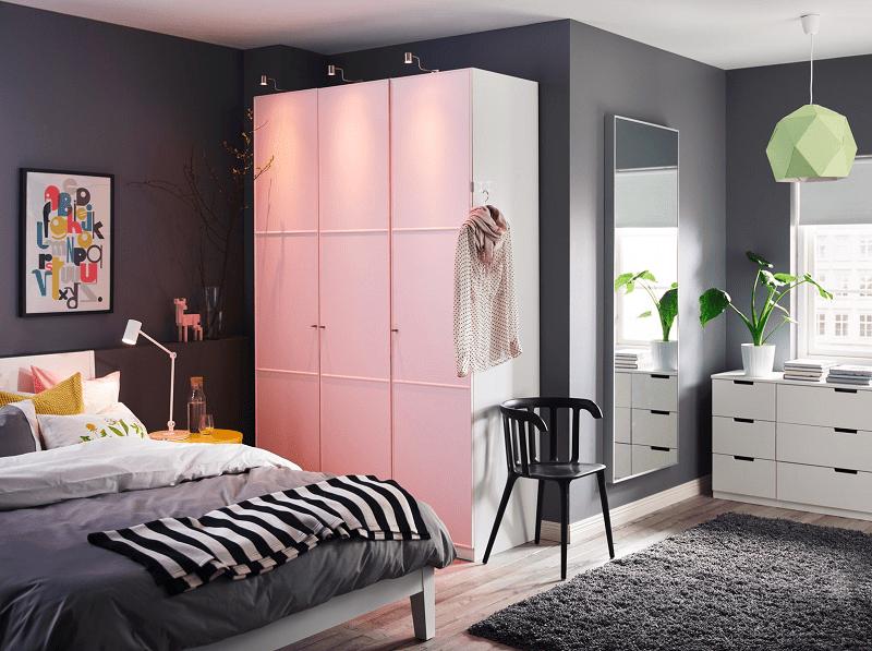 Inilah desain lemari pakaian untuk kamar sempit