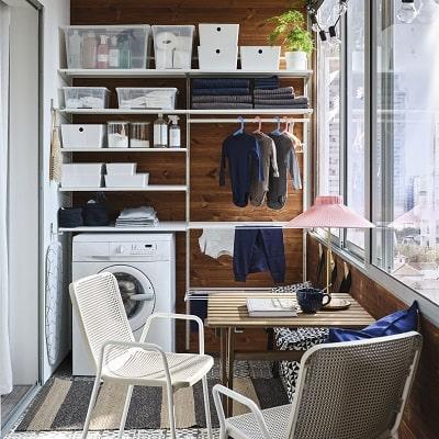 Ruang laundry yang dipersonalisasi