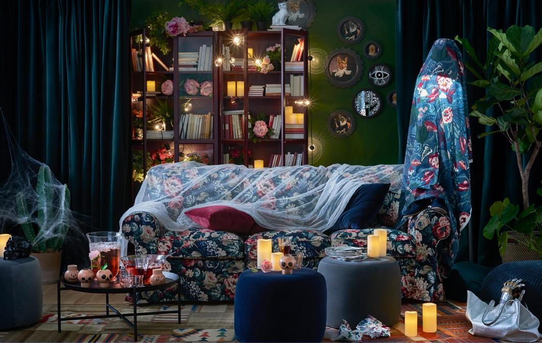 Ubah suasana ruang keluarga Anda menjadi dramatis