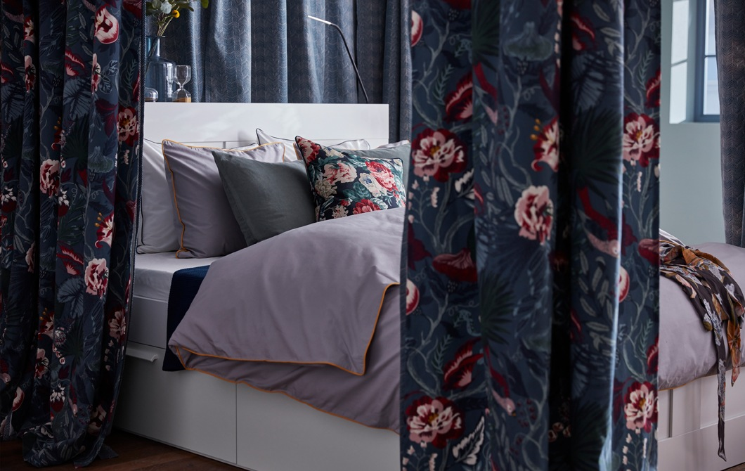 Give your bed the royal treatment – add a canopy
