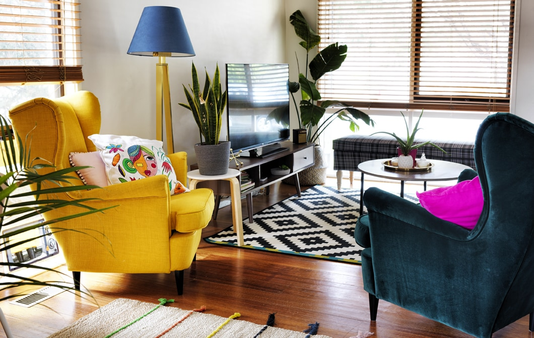 Home visit: a colourful home organised for fun