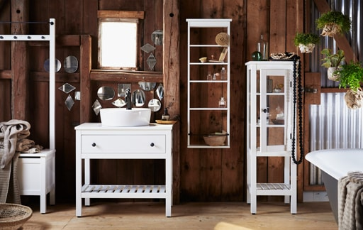 Bathroom furniture designed to suit small spaces